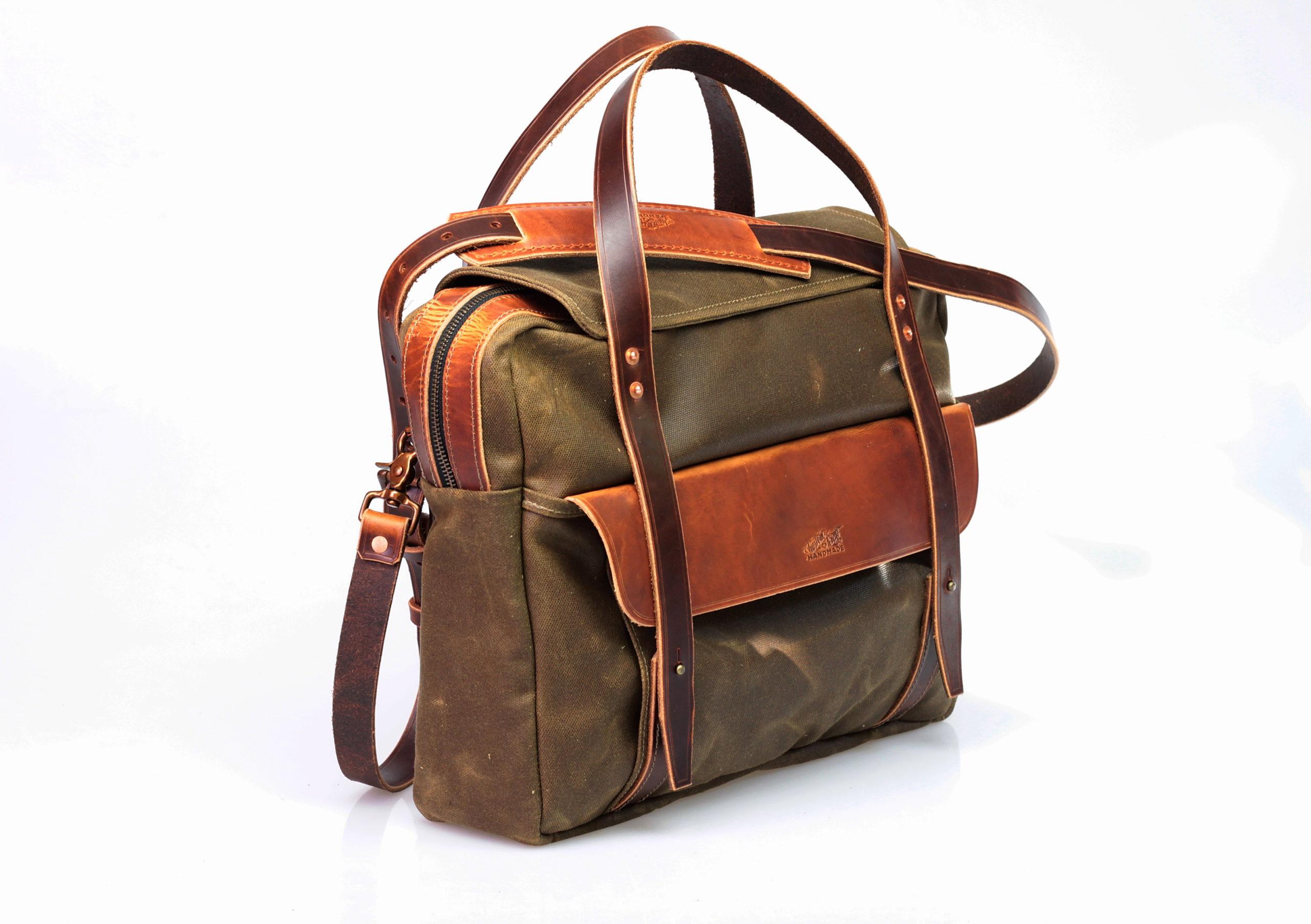 Canvas Briefcase (tan) Bild 2