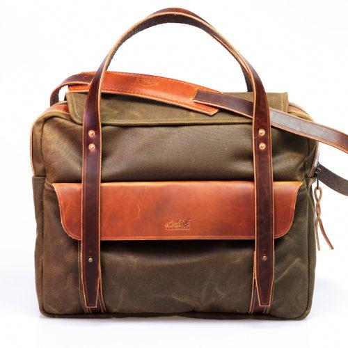 Canvas Briefcase (tan) Bild 1