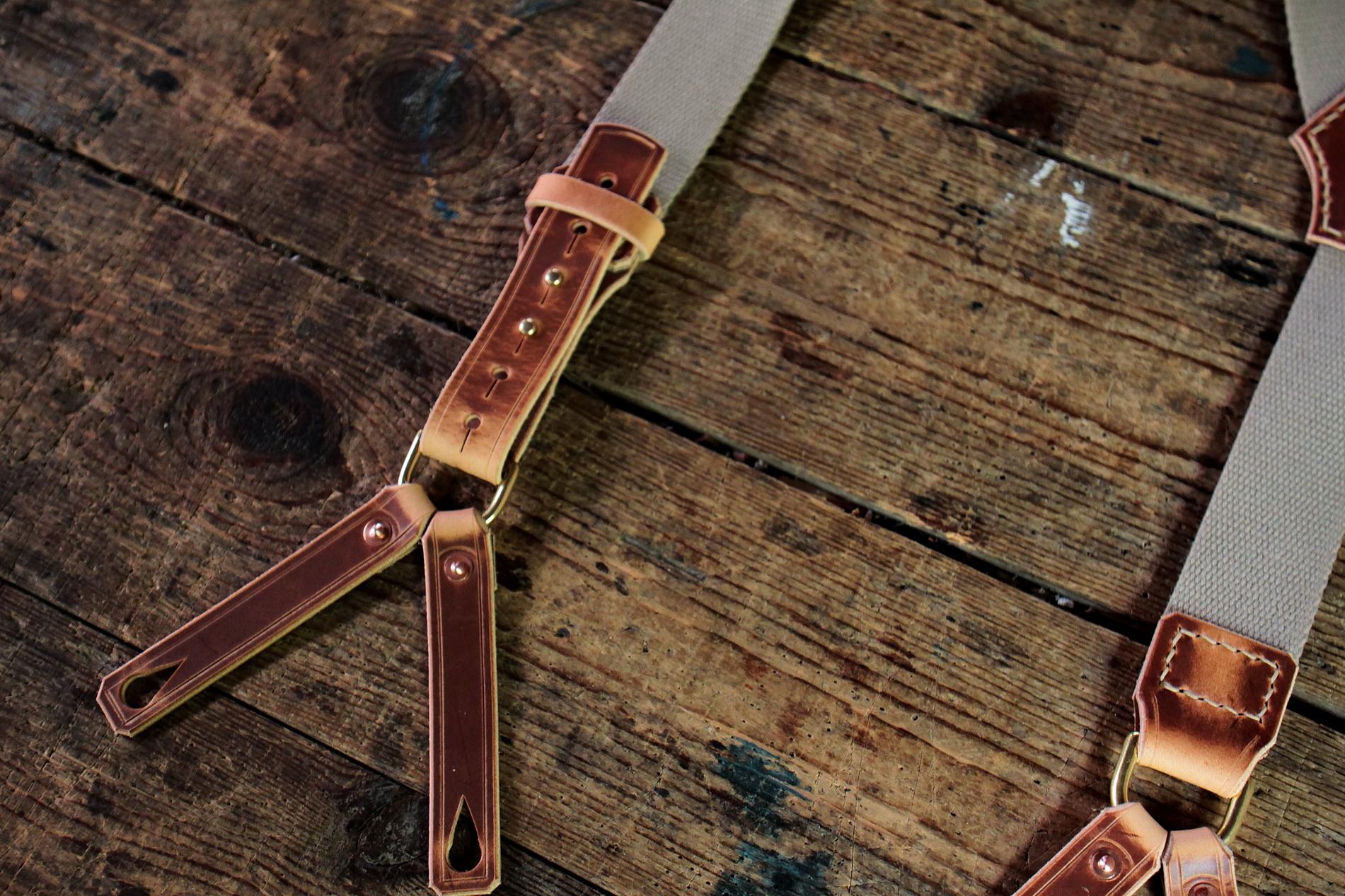 Vintage Suspenders (hellbraun) Bild 2