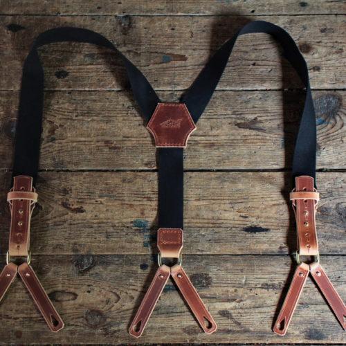 Vintage Suspenders (schwarz/braun) Bild 1